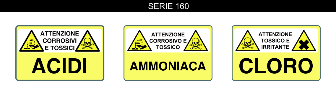 cartelli segnalatori di pericolo serie 160