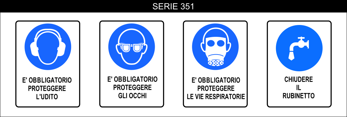 cartelli segnalatori obbligo serie 351