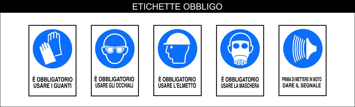 ETICHETTE GENERALI SERIE DIVIETO