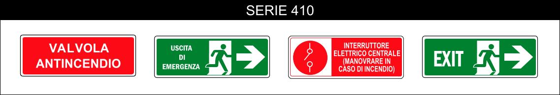 cartelli antincendio salvataggio serie 410