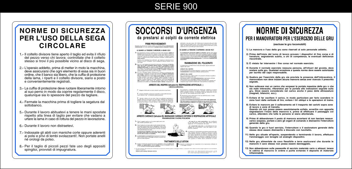 cartelli normative serie 900