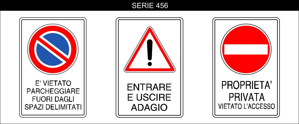 cartelli proprietà privata serie 456
