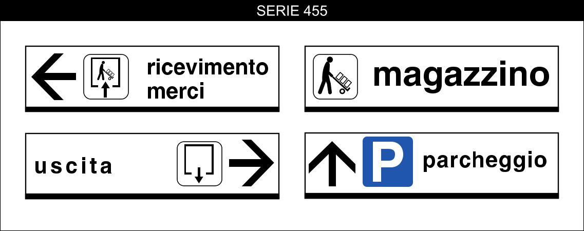 cartelli segnalatori indicazioni serie 455